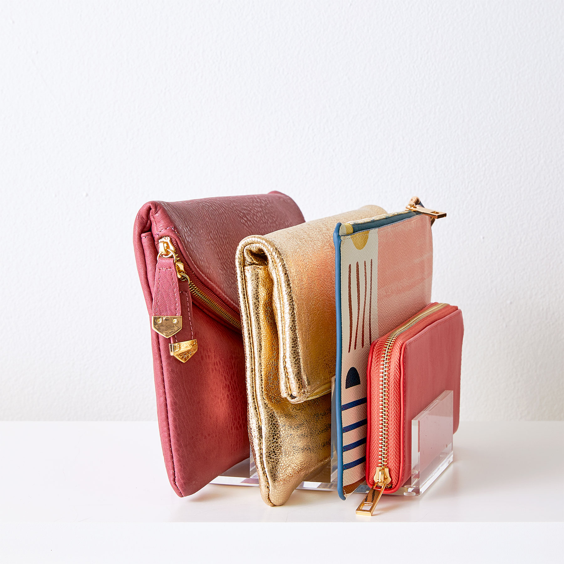 How to Organize Bags: Corral Clutches