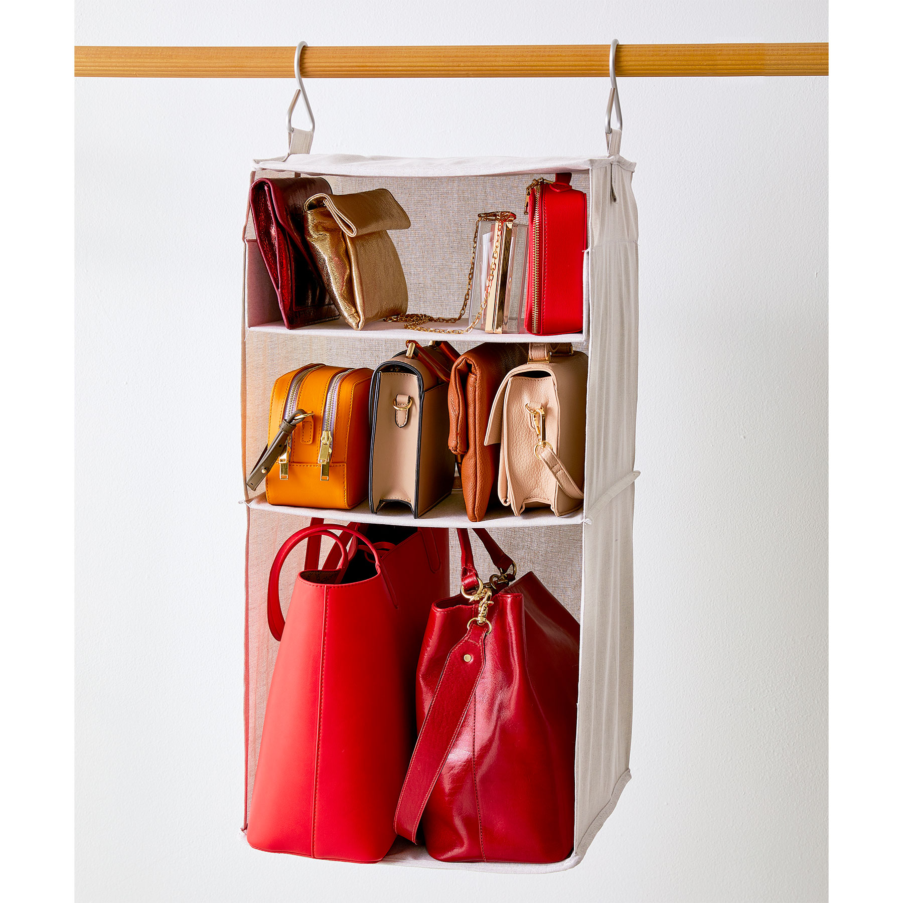 How to Organize Bags: Hang Them Up