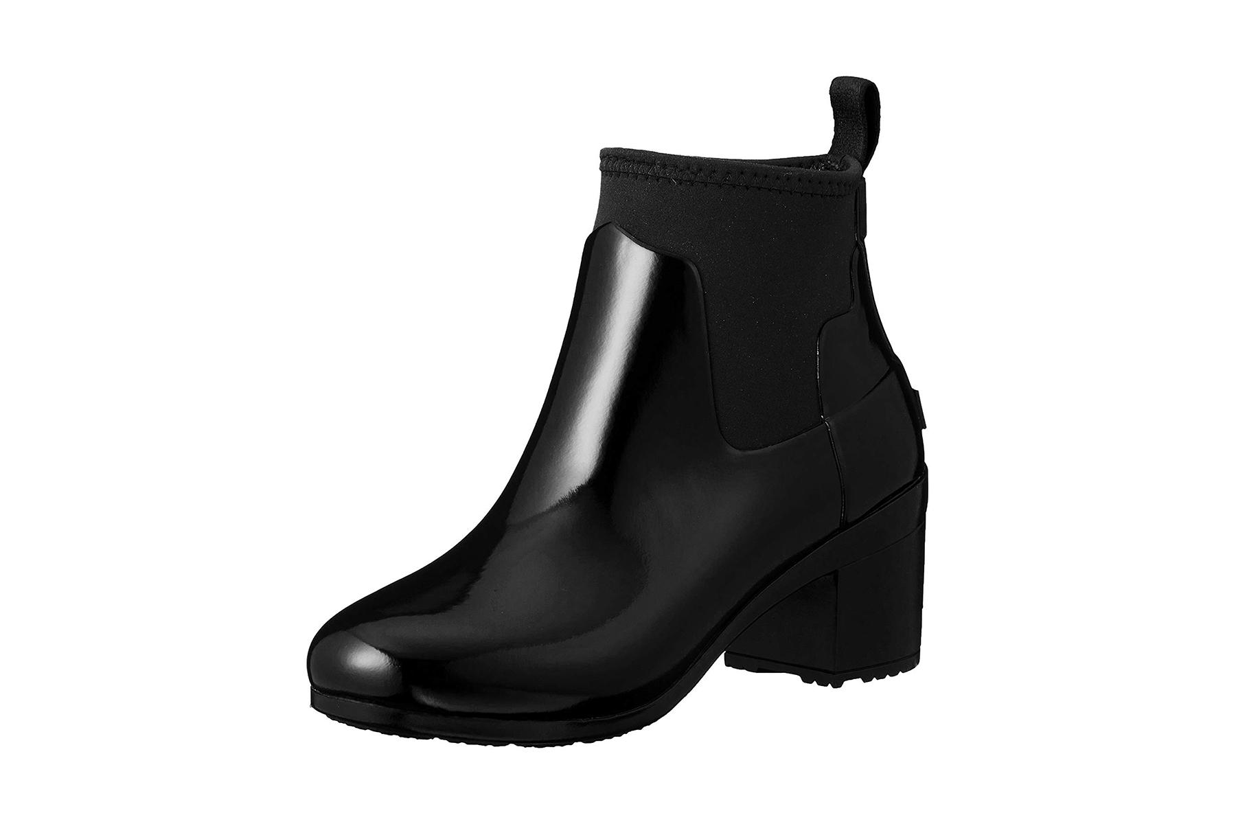 Hunter Refined Mid Heel Gloss Rain Boot