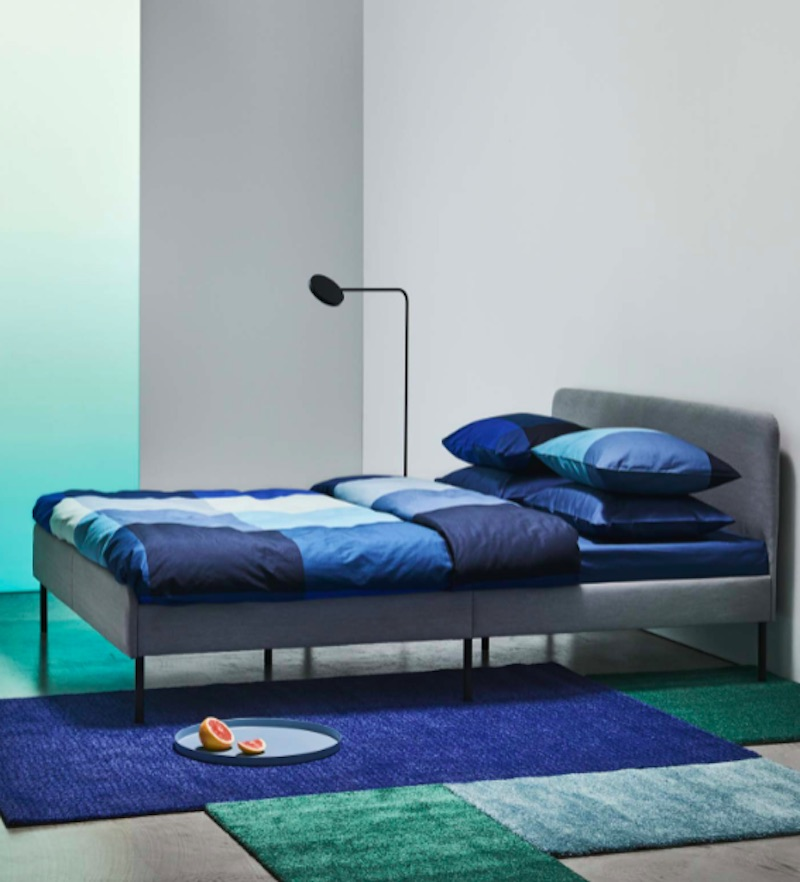 A Luxurious Upholstered Bed from IKEA 2020 catalog launch