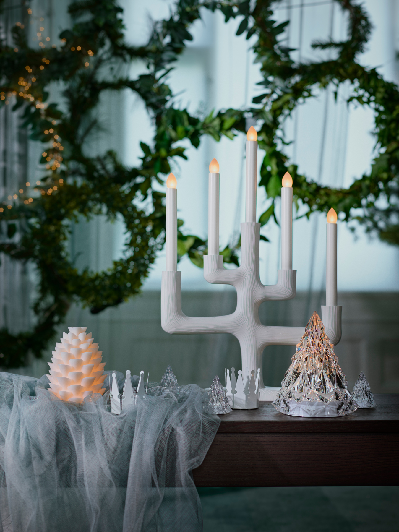 IKEA 2018 Holiday/Winter Collection STRÅLA LED 5-Arm Candelabra Branch