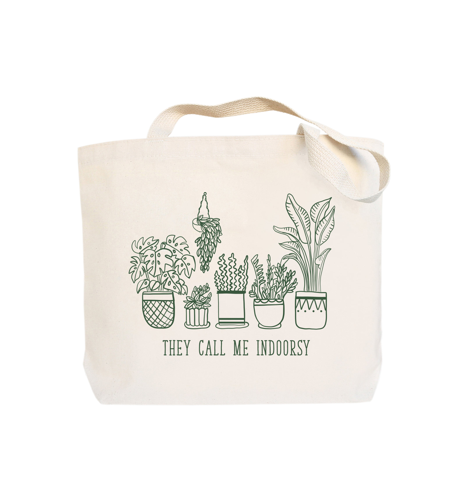 They Call Me Indoorsy Tote