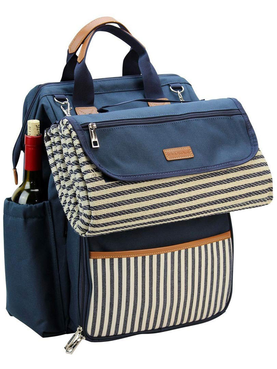 INNO STAGE Wide Open Picnic Backpack Bag for Four