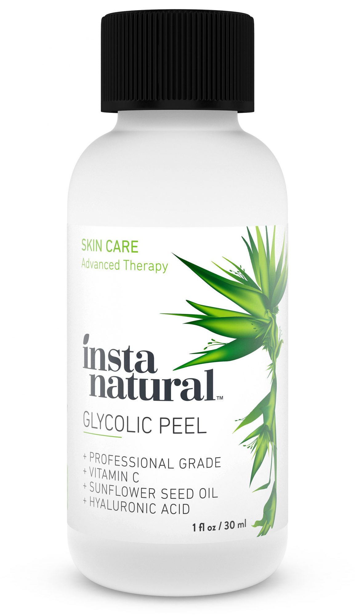 Best Face Masks and Chemical Peels: InstaNatural Glycolic Peel With Vitamin C, Sunflower Seed Oil, Hyaluronic Acid