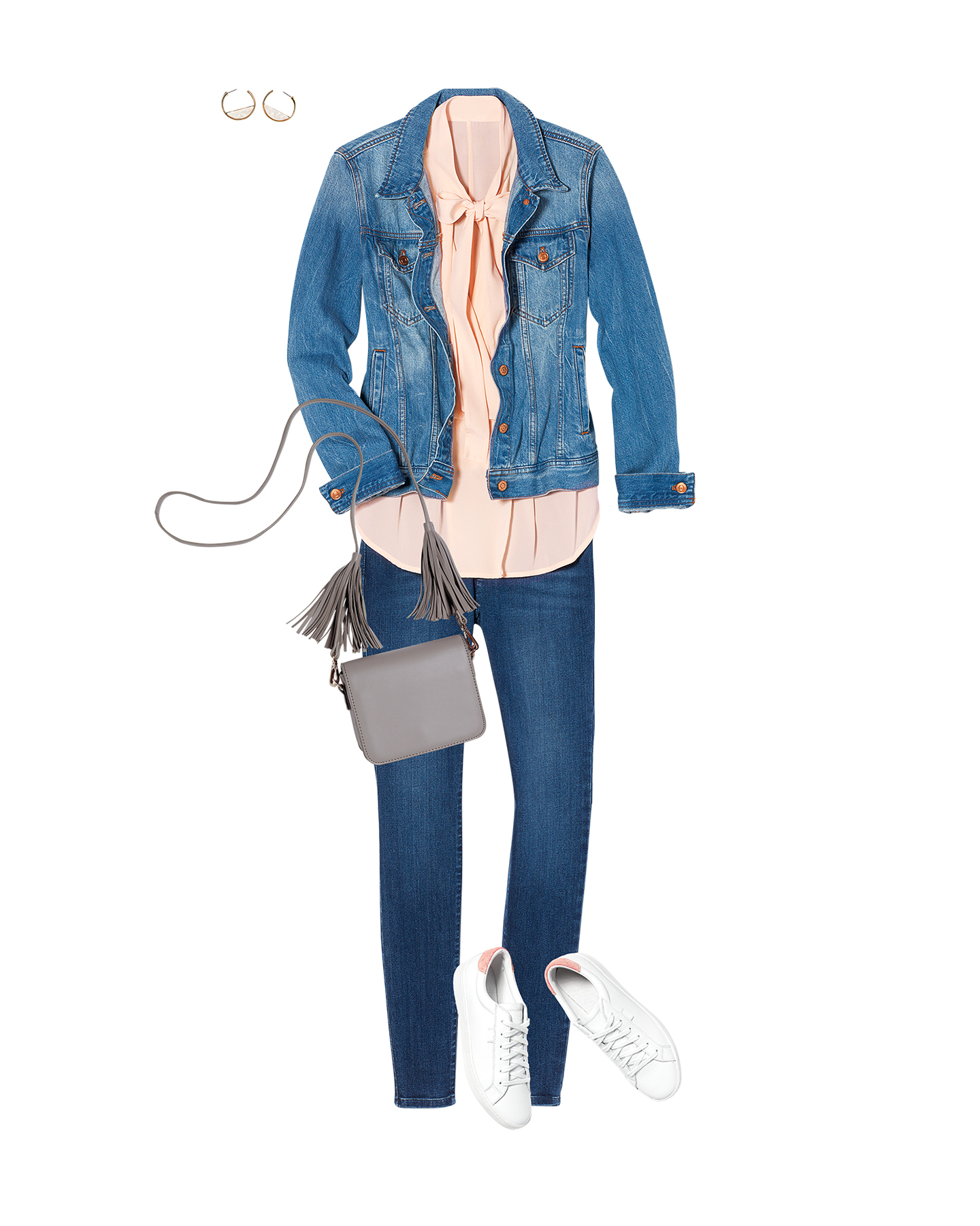 j crew jacket pink habitual blouse j jill jeans outfit kevin sweeney