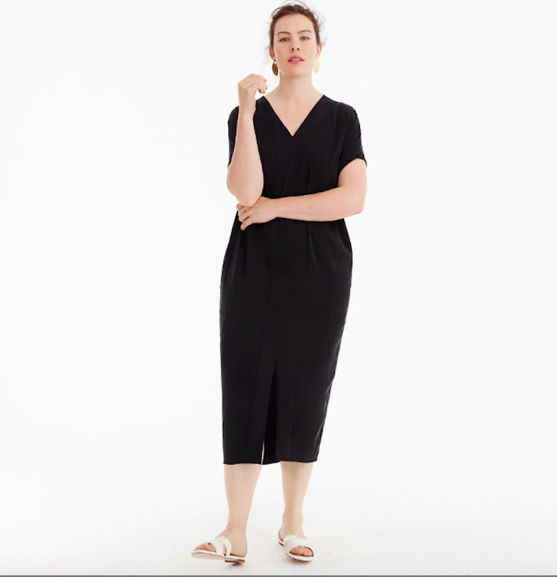 J.Crew Plus Size Black Dress