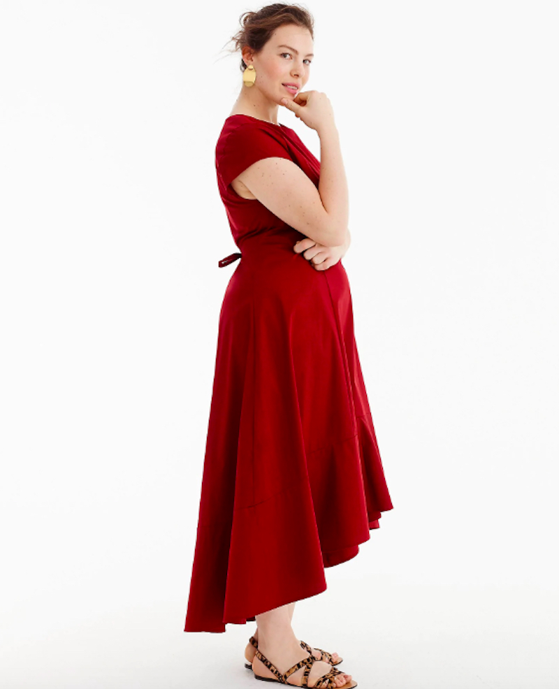 J.Crew Plus Size Red Dress