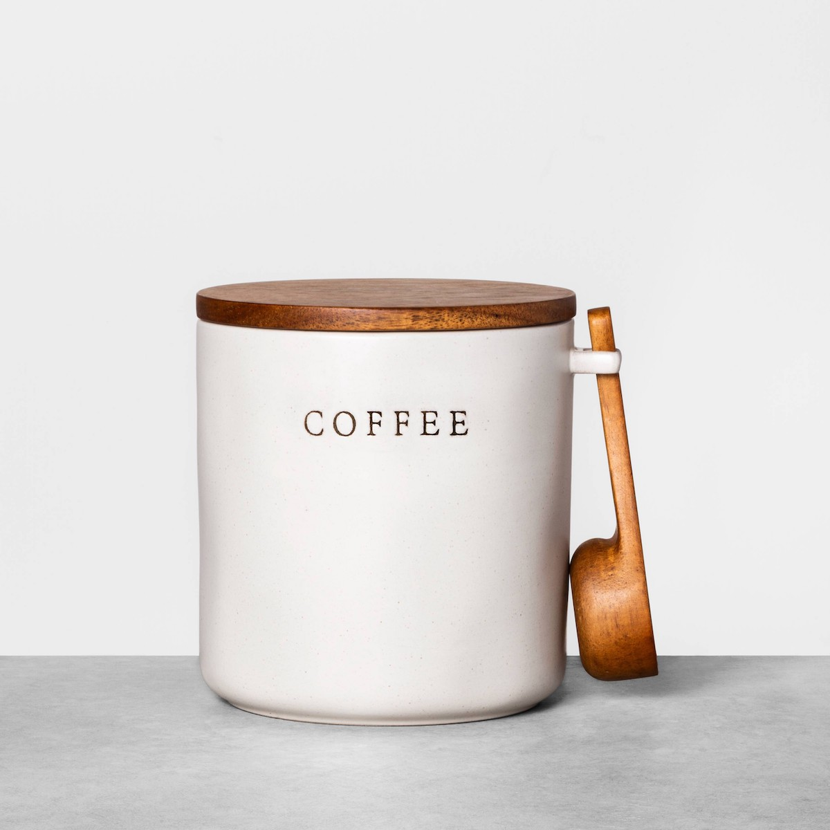 Target Joanna Gaines coffee canister with wooden spoon