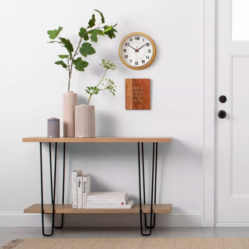 Joanna Gaines for Target, wood console table with hairpin legs