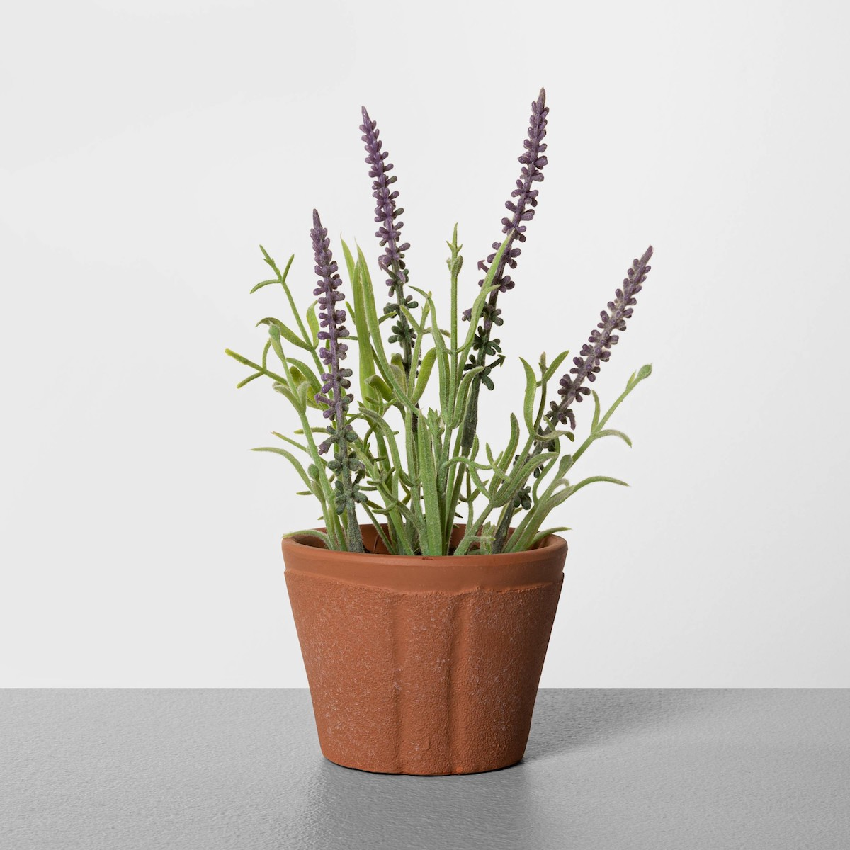 Fake lavender plant in pot