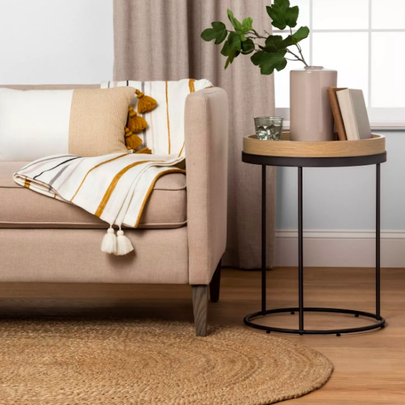 Joanna Gaines for Target, wood and metal side table