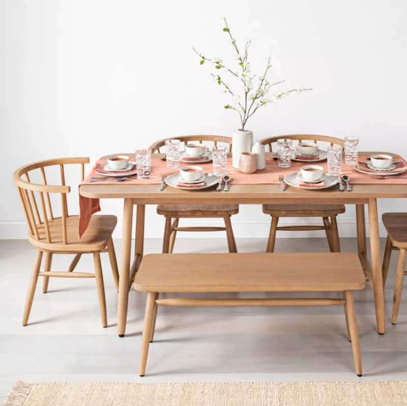 Joanna Gaines for Target, wood dining table with chairs