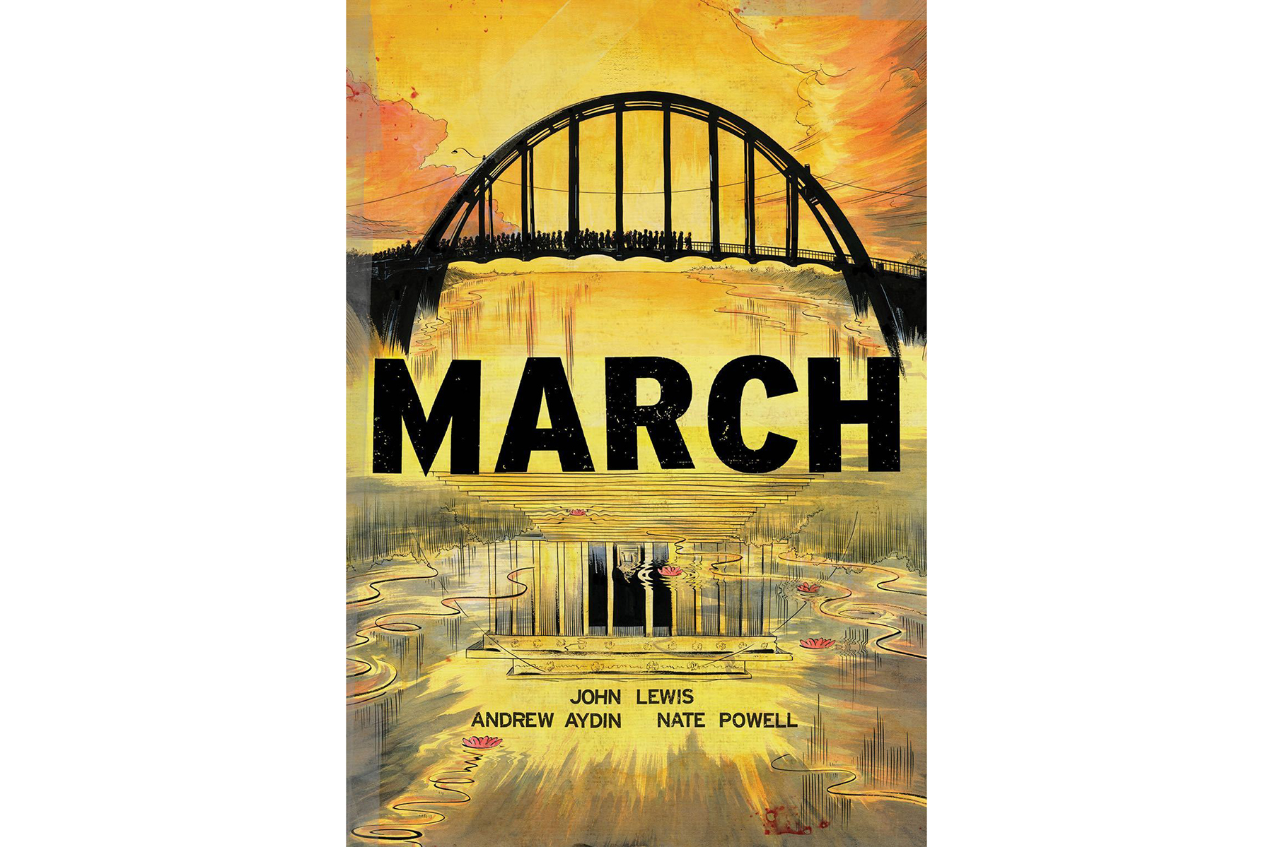 March, Books 1-3, by John Lewis, Andrew Aydin, and Nate Powell Cover