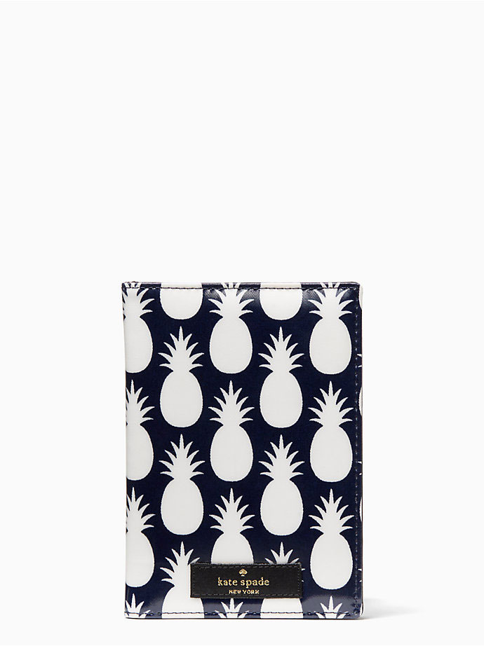 Kate Spade pineapple passport holder