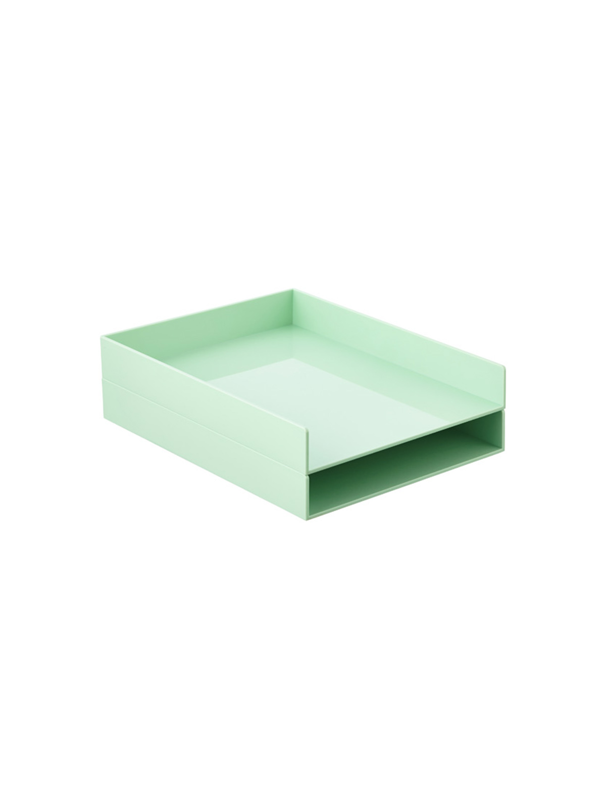 Kitchen Counter Organization Letter Tray in Mint