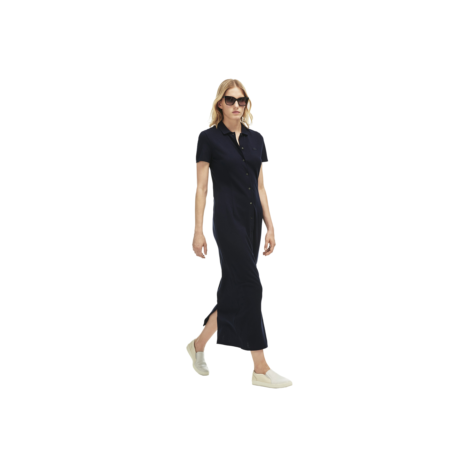 Lacoste Buttoned Long Polo Dress
