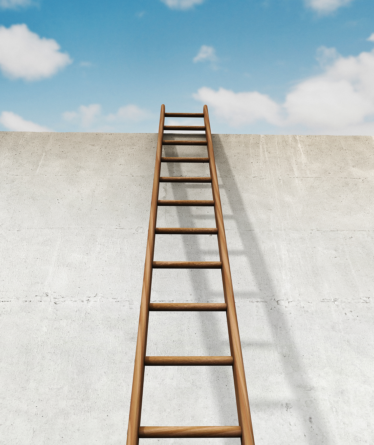Ladder leading to the sky