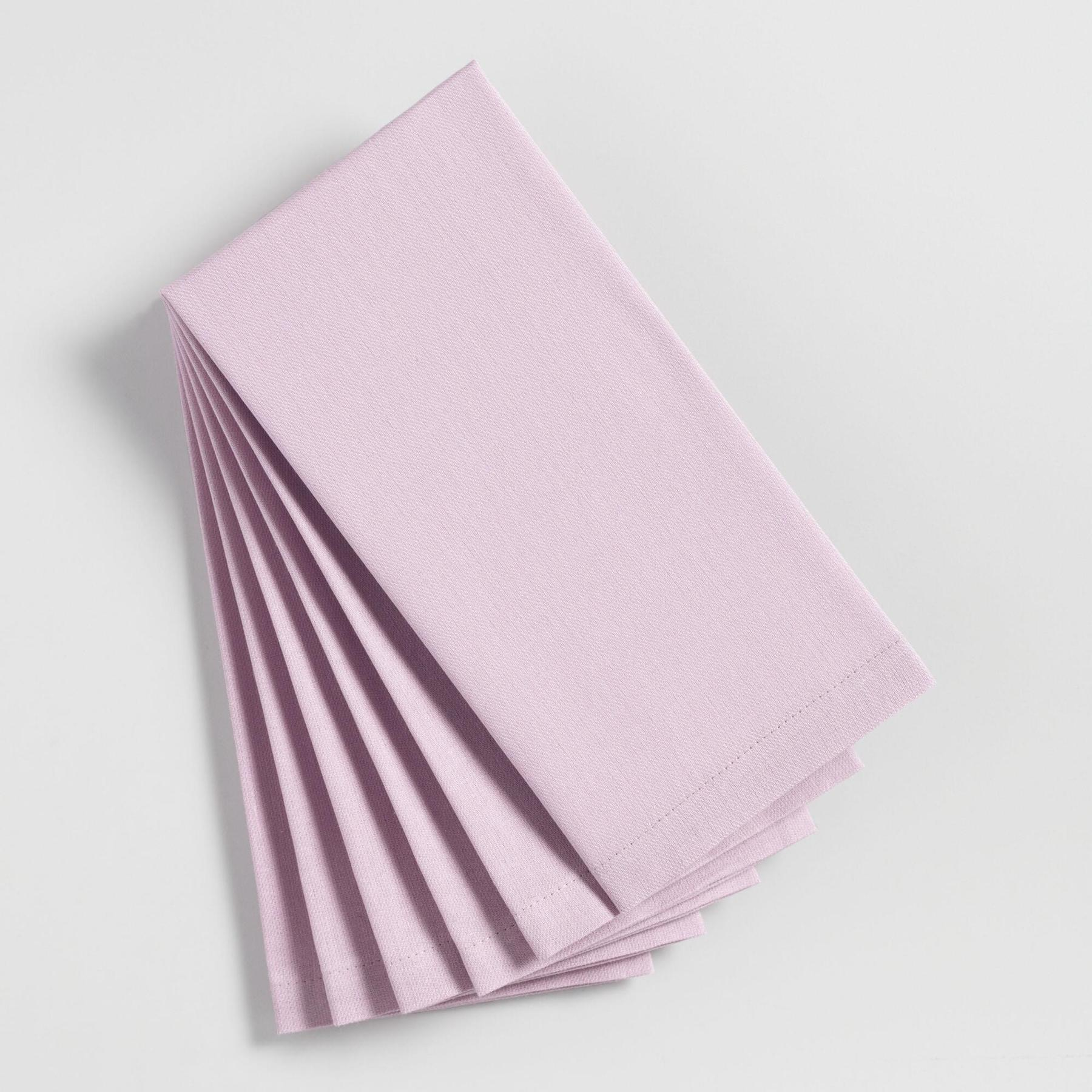 Purple Orchid Buffet Napkins, set of 6
