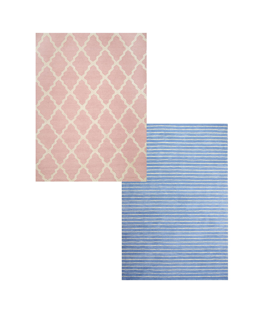 Light Pink and Light Blue Rug