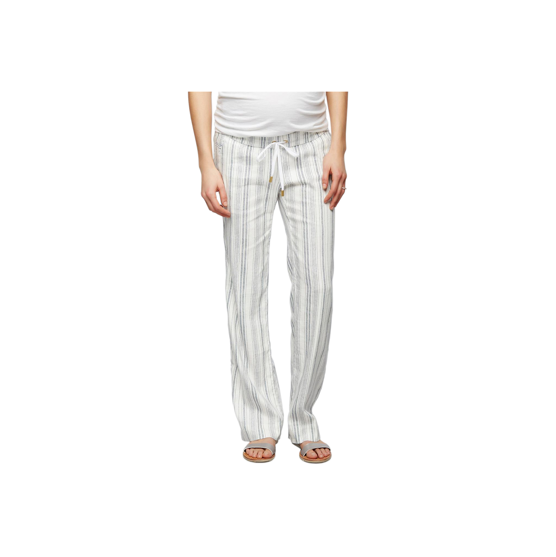Under Belly Linen Wide Leg Maternity Pants