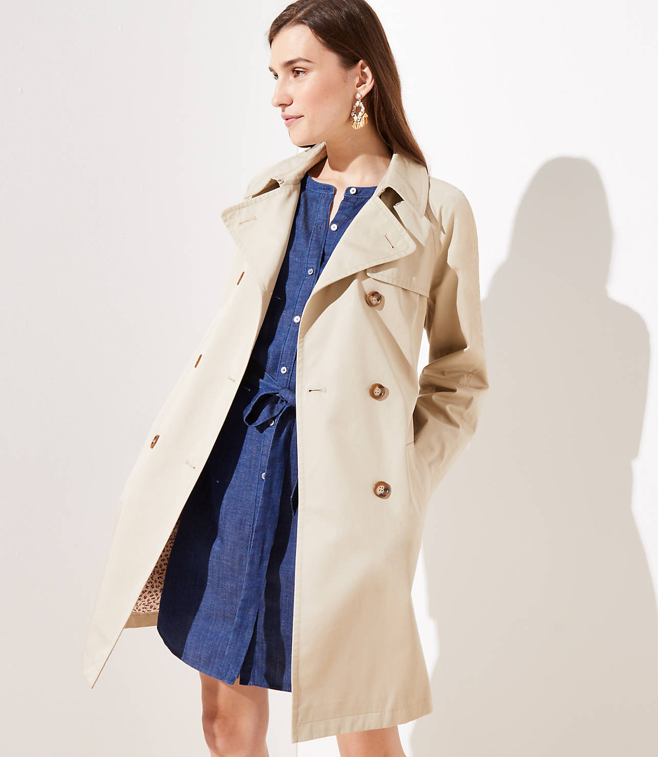 floral lined womens trench coat