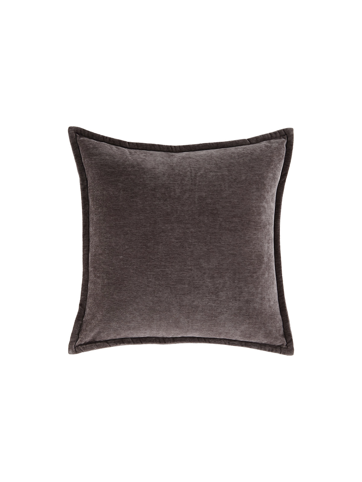 Luxe velvety throw pillow in purple color