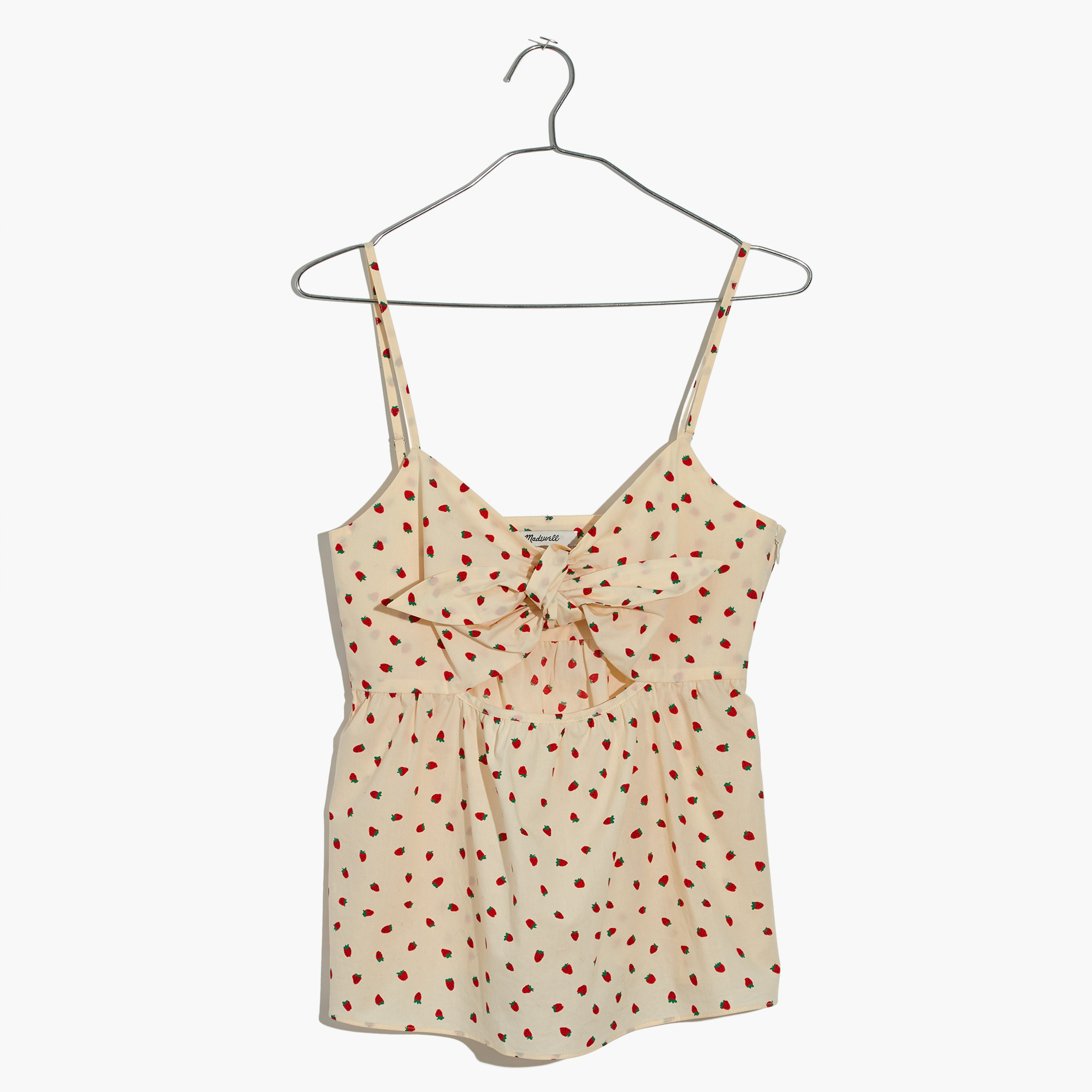 Tie-Front Keyhole Cami Top in Fresh Strawberries