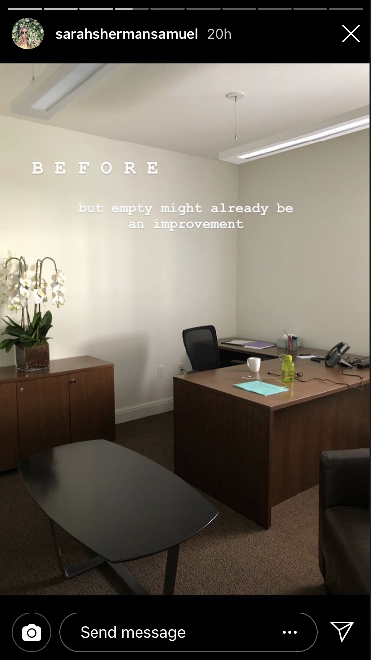 Mandy Moore Office Makeover, Before