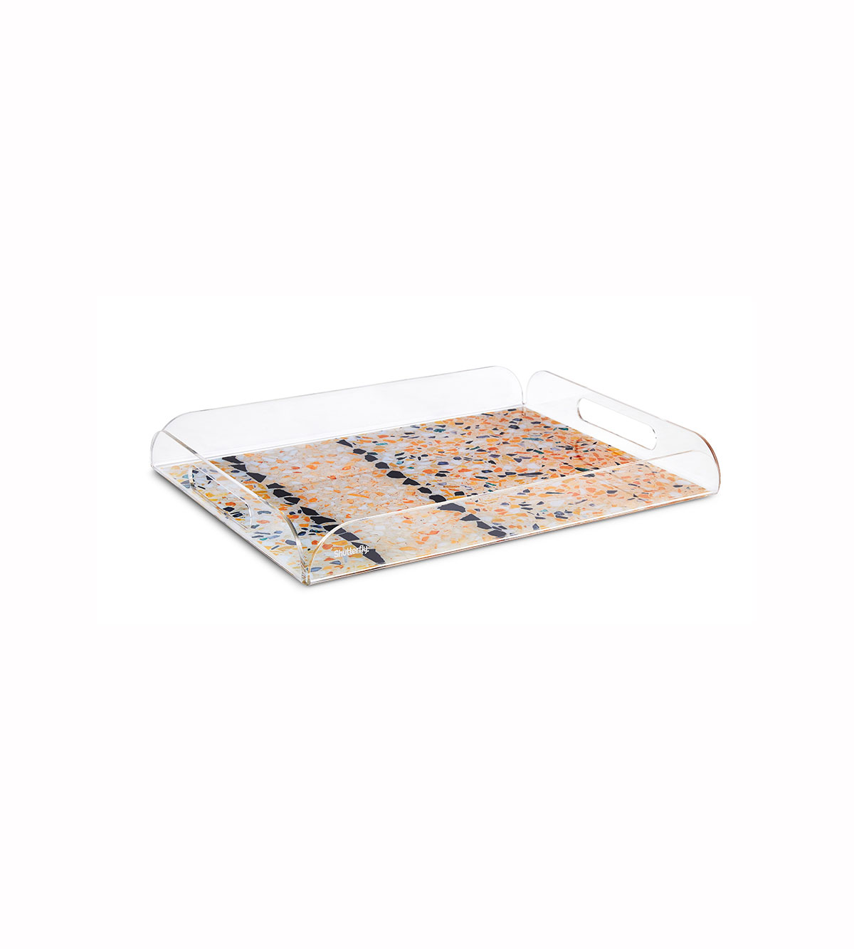 Mandy Moore Collection Neutral Terrazzo Serving Tray