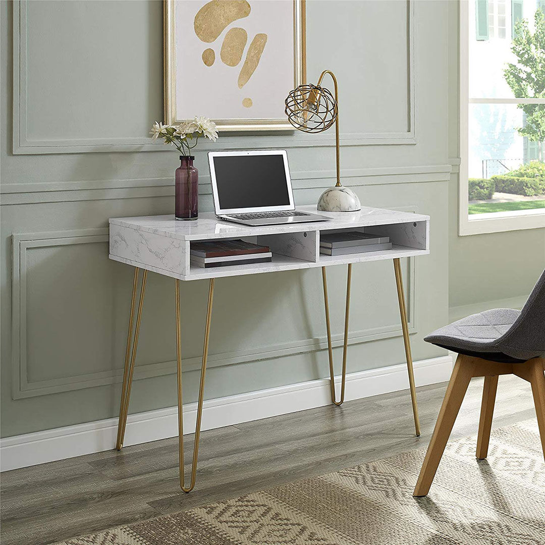 Marble Computer Desk from Amazon.com
