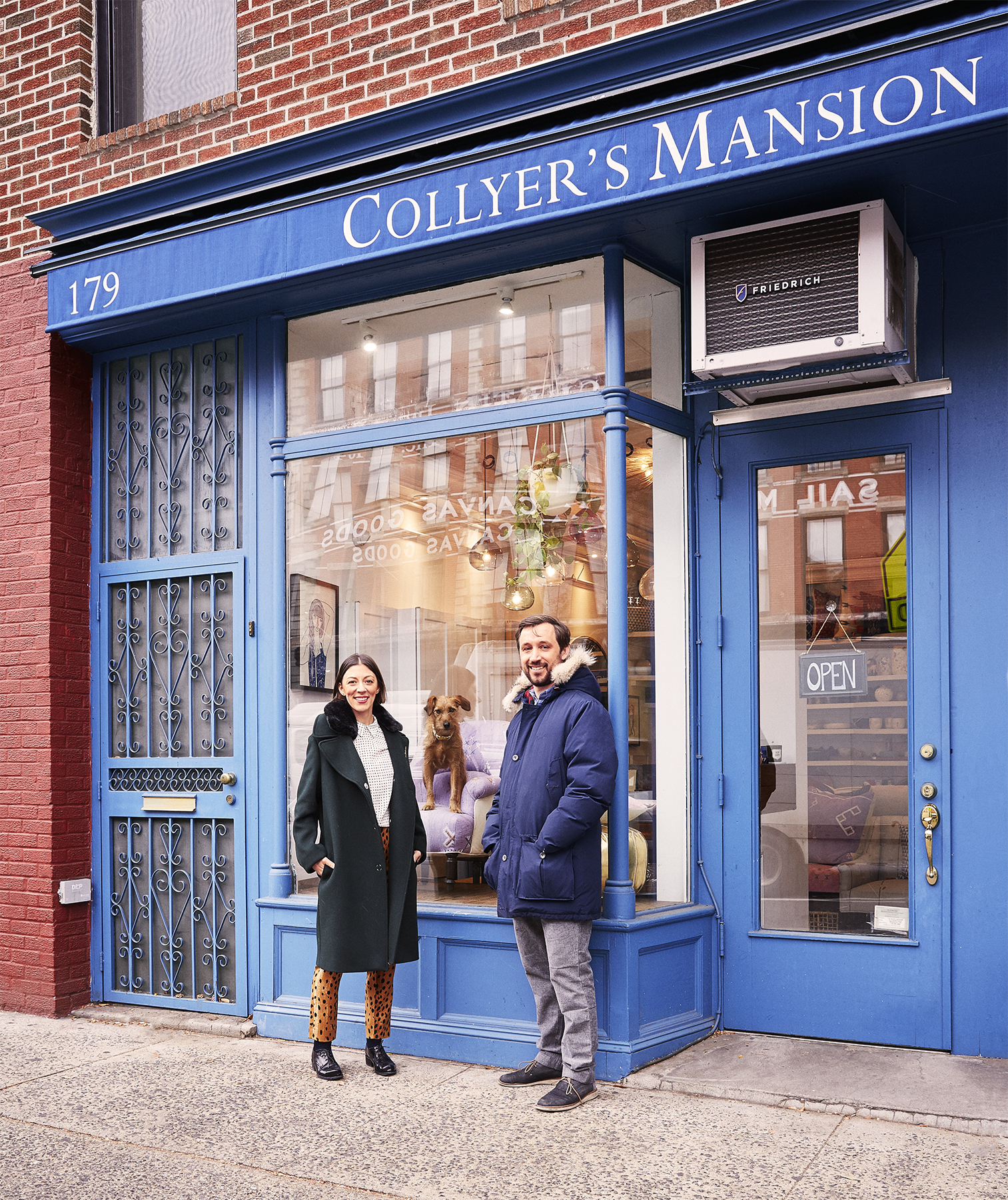 Mauri and Ben in front of Collyer's Mansion