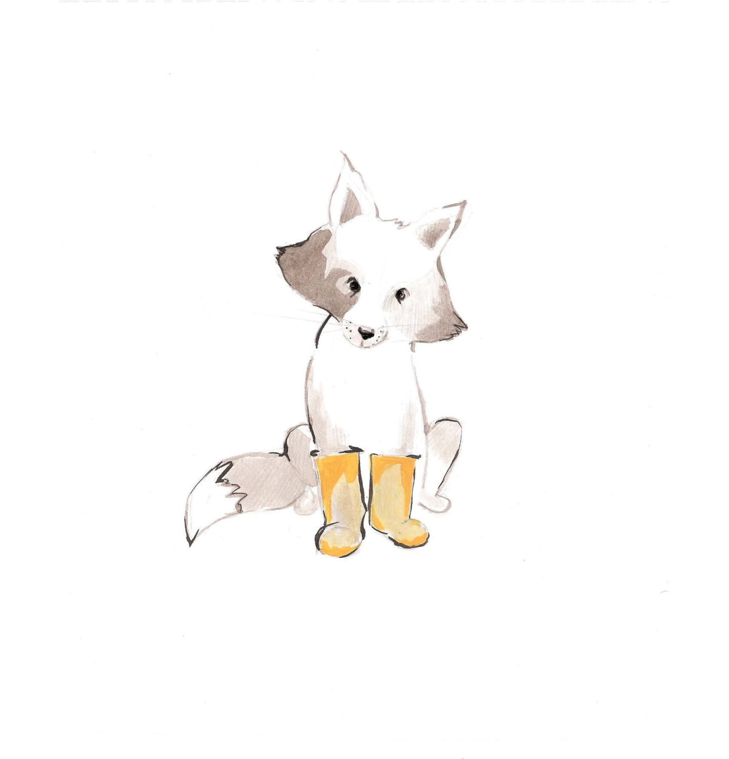 Max and the Yellow Boots Print
