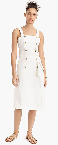J.Crew Button-Front Trench Dress
