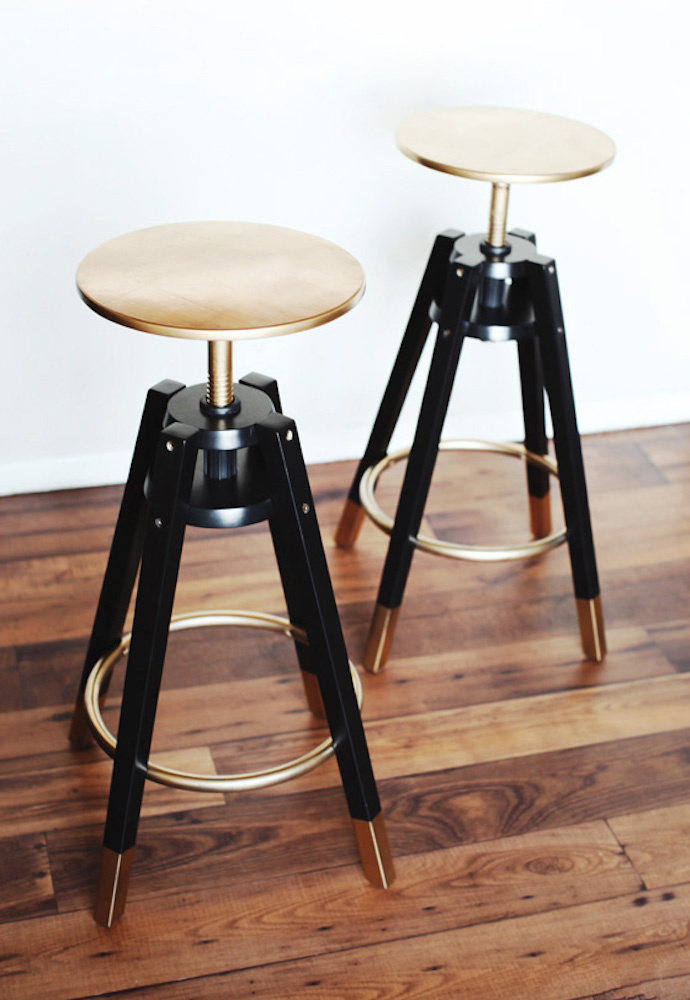 Melodrama gold kitchen stools from IKEA