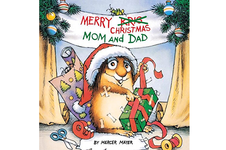Christmas books for kids - Merry Christmas Mom and Dad, by Mercer Mayer