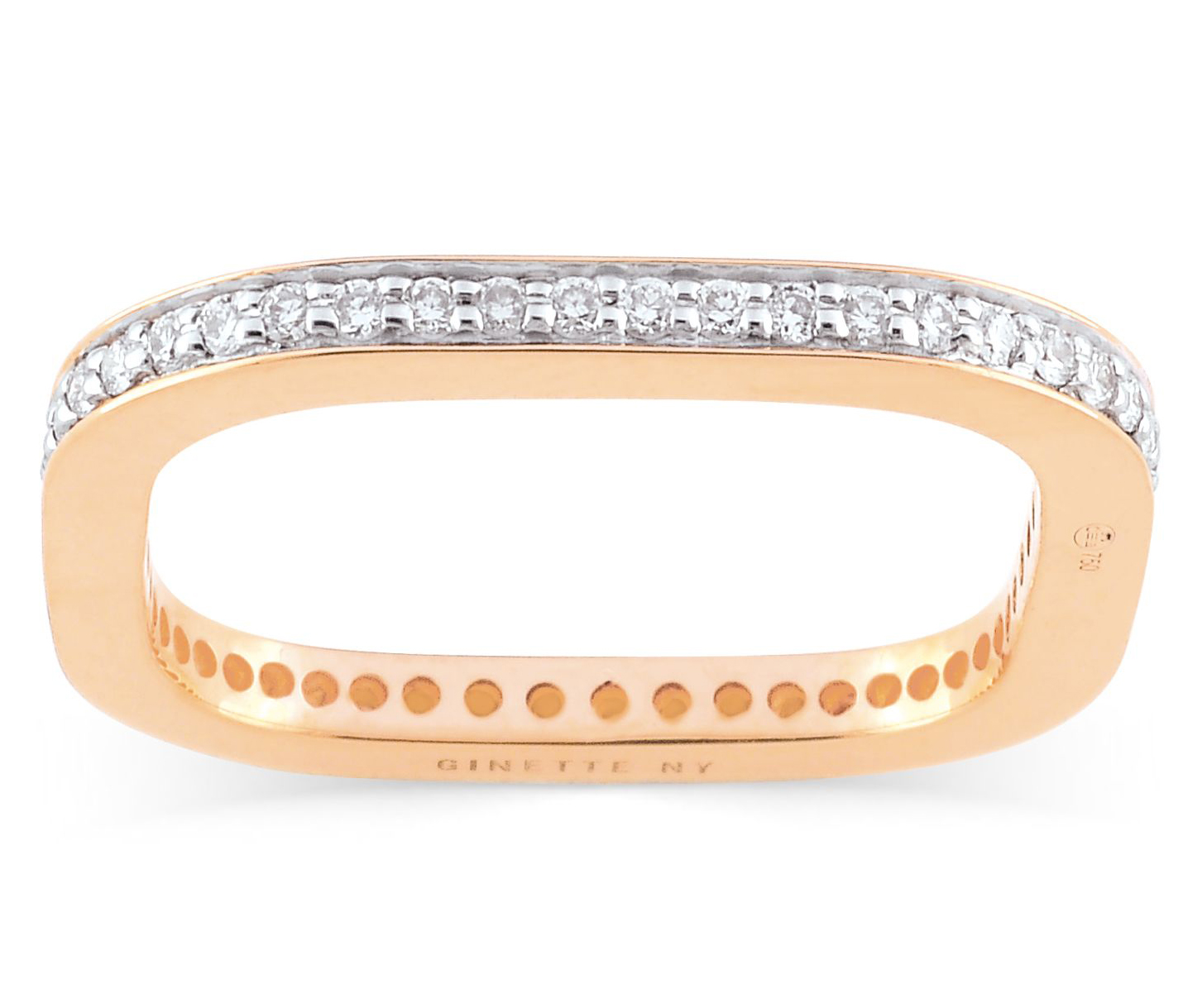 Minimalist Engagement Rings: Ginette square pavé eternity band