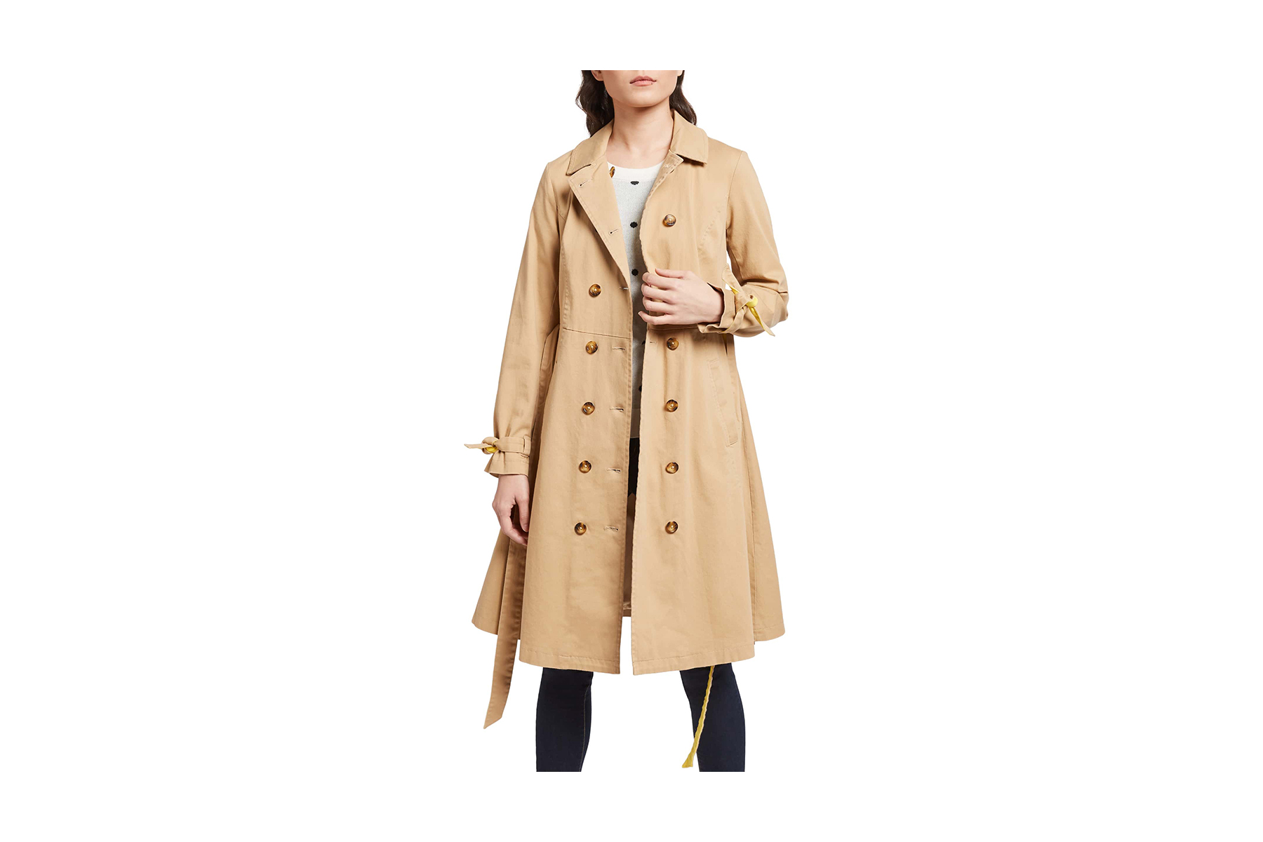 Modcloth Contrast Trench Coat
