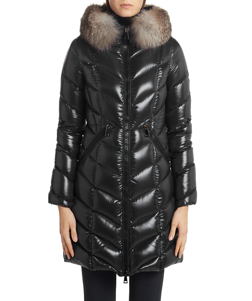 Best Puffer Coat to Splurge On: Moncler Fulmarus Quilted Down Puffer Coat with Removable Genuine Fox Fur Trim