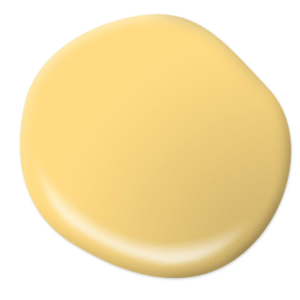 Mood-Boosting Behr Paint Colors - Spirited Yellow