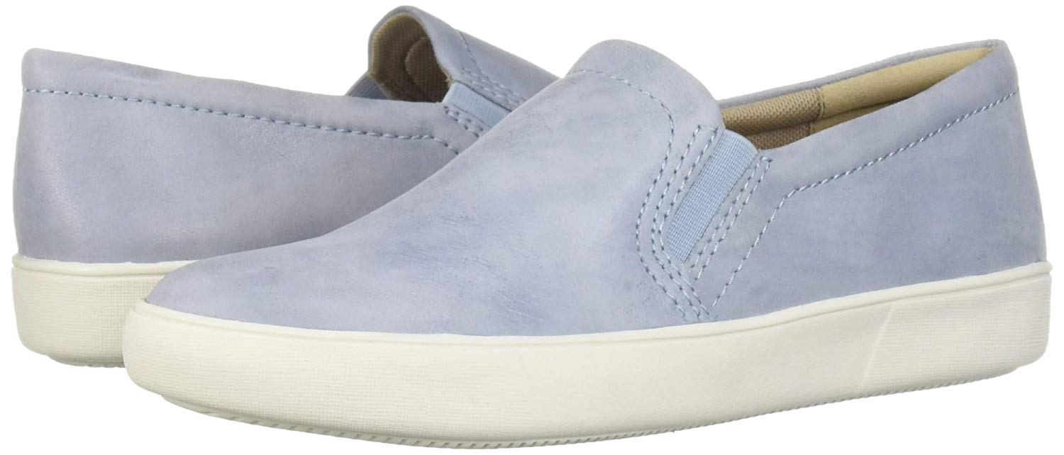 blush suede slip-on sneakers for women
