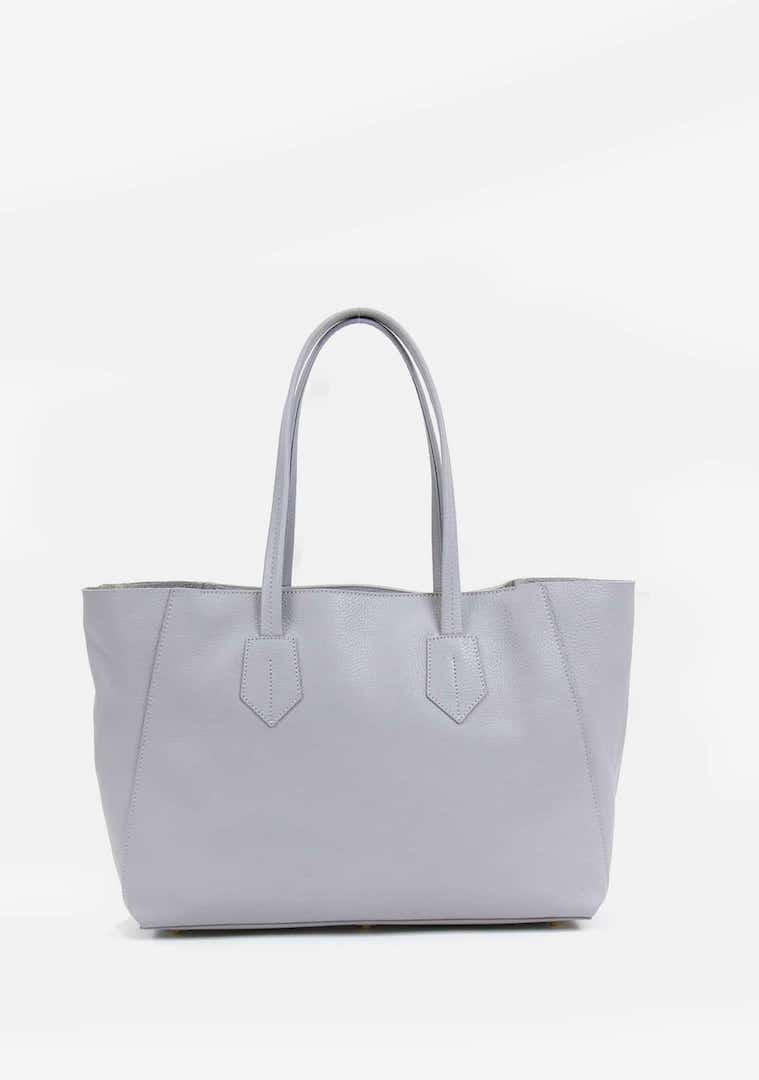 neely and chloe pebbled leather tote bag