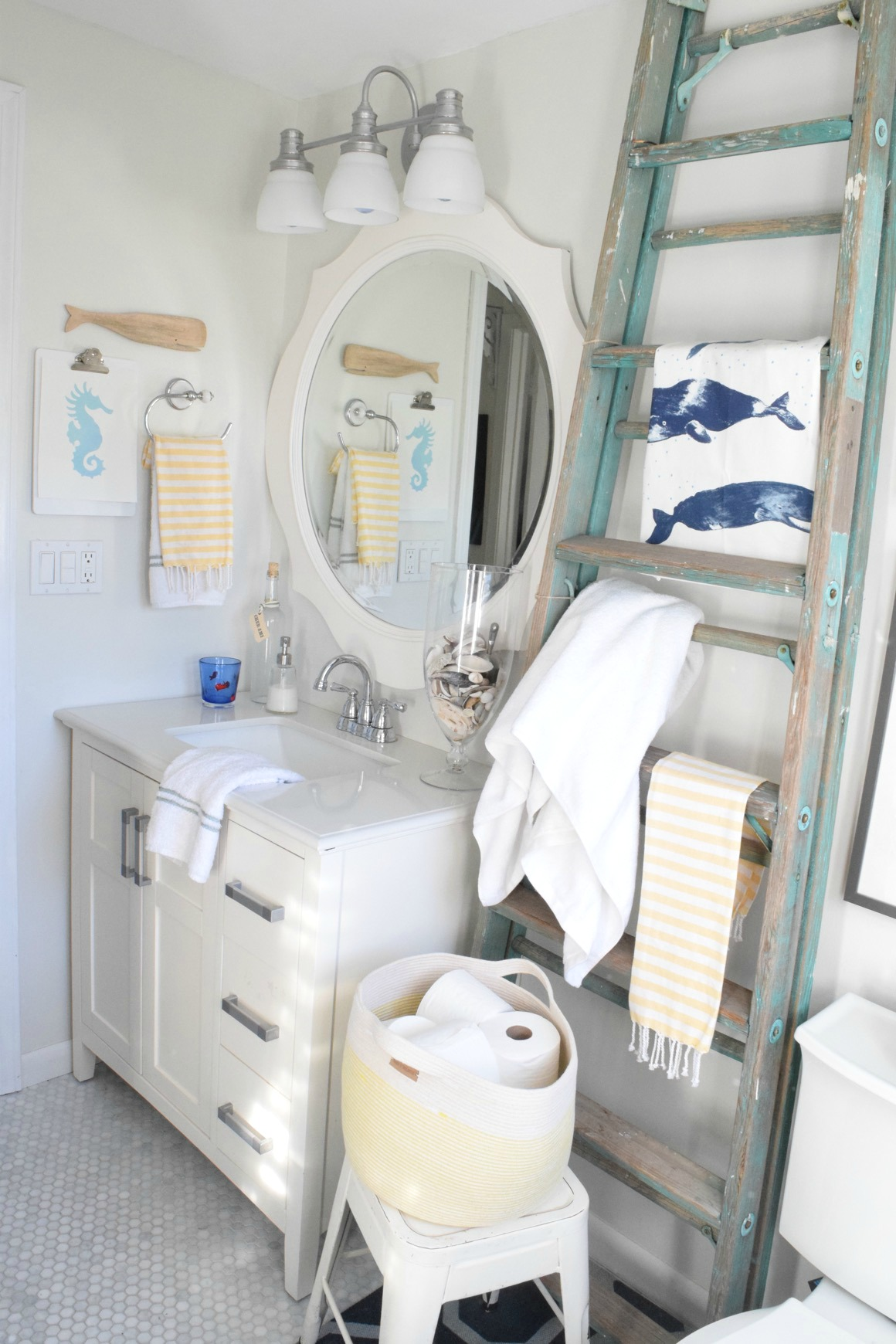 Nesting with Grace Bathroom Before