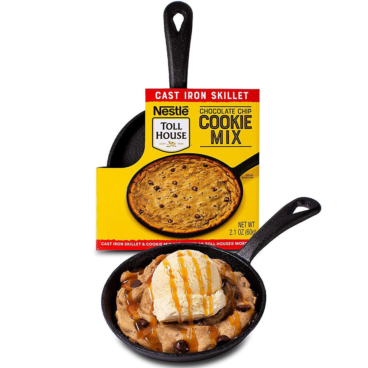 """Nestle Toll House Individual-Size Chocolate Chip """"Pizza Cookie"""" Kit"""