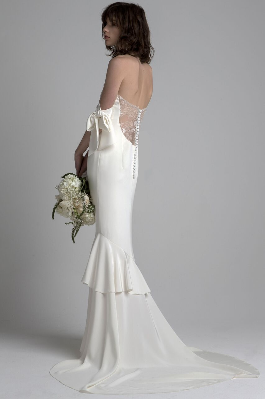 Off The Shoulder Wedding Gown by Sachin & Babi