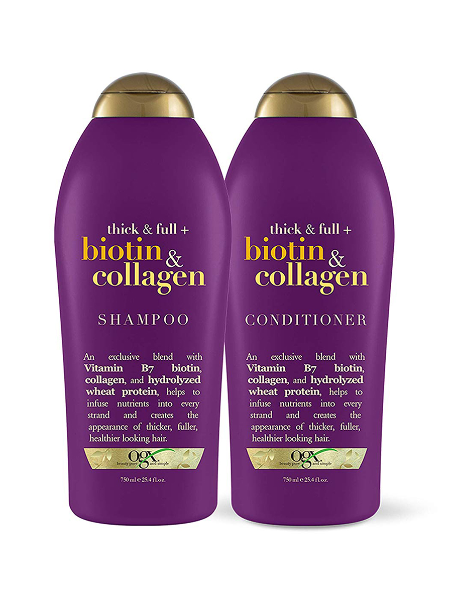 OGX Thick and Full Biotin and Collagen Shampoo and Conditioner