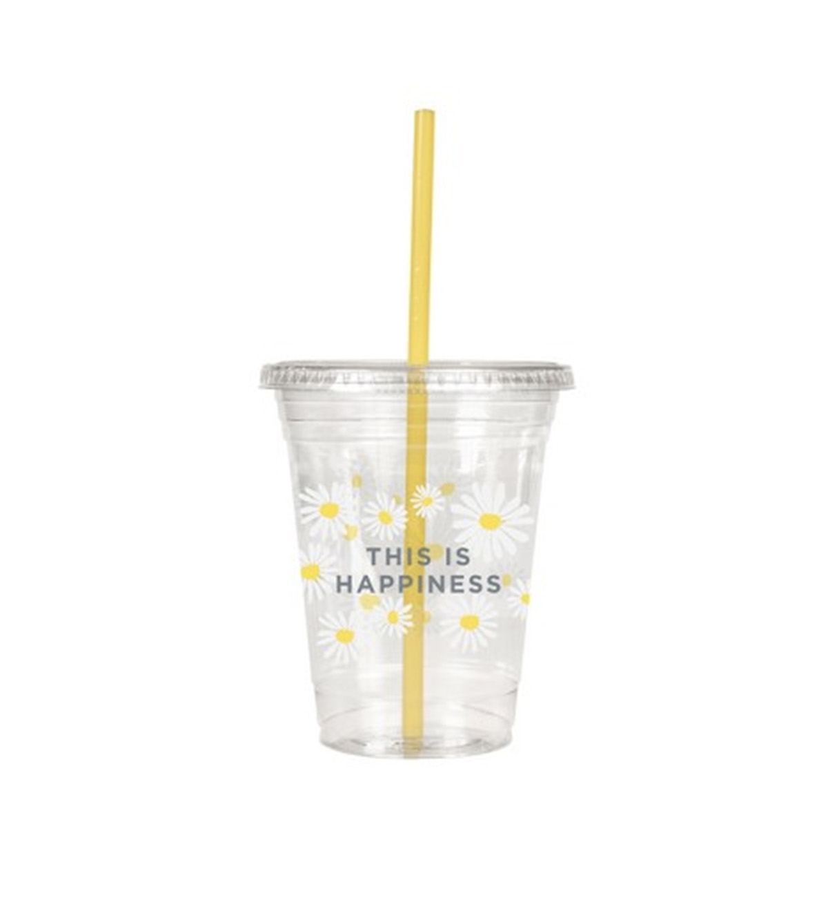 Oh Joy cup with yellow straw