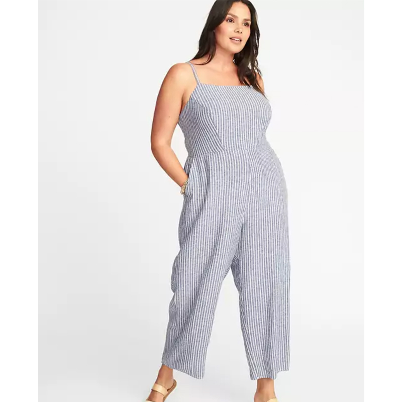 Old Navy Striped Square-Neck Jumpsuit