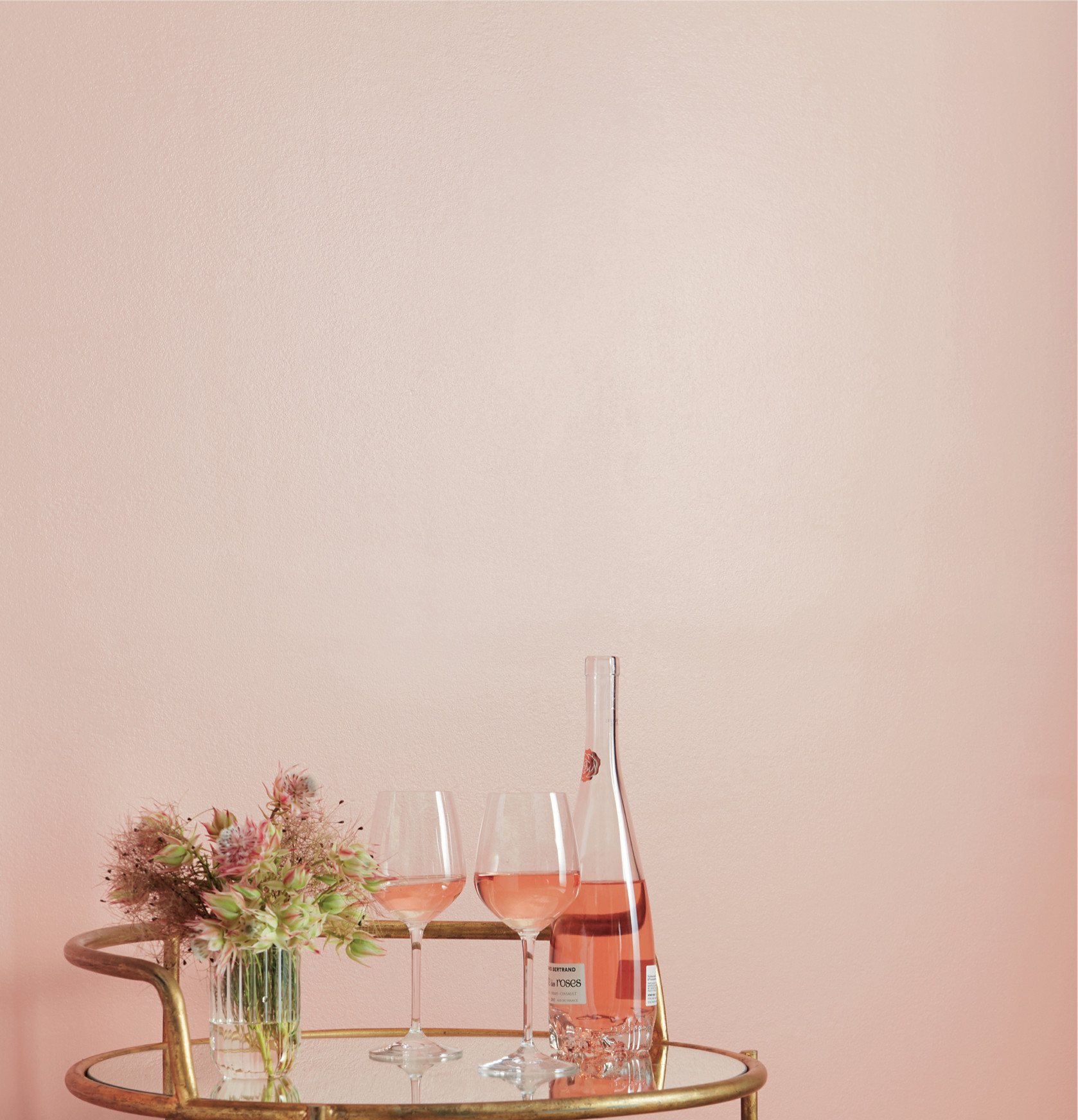 wall painted with, Rosé Season by Clare, pink