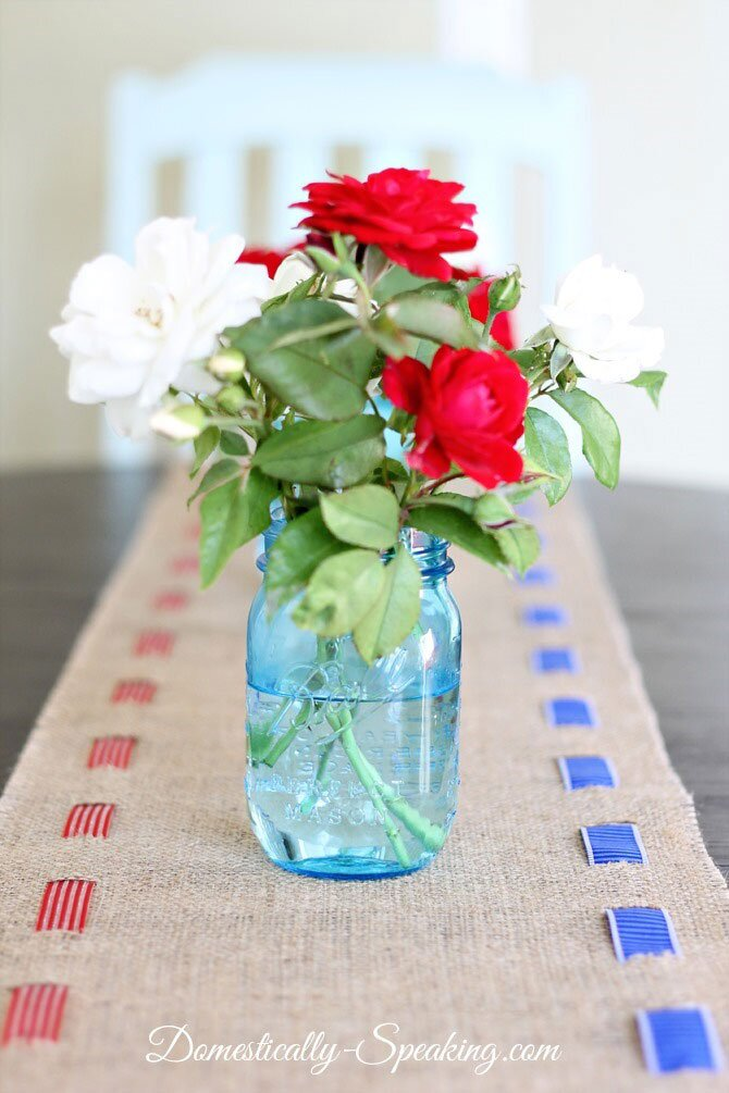 Burlap Table Runner