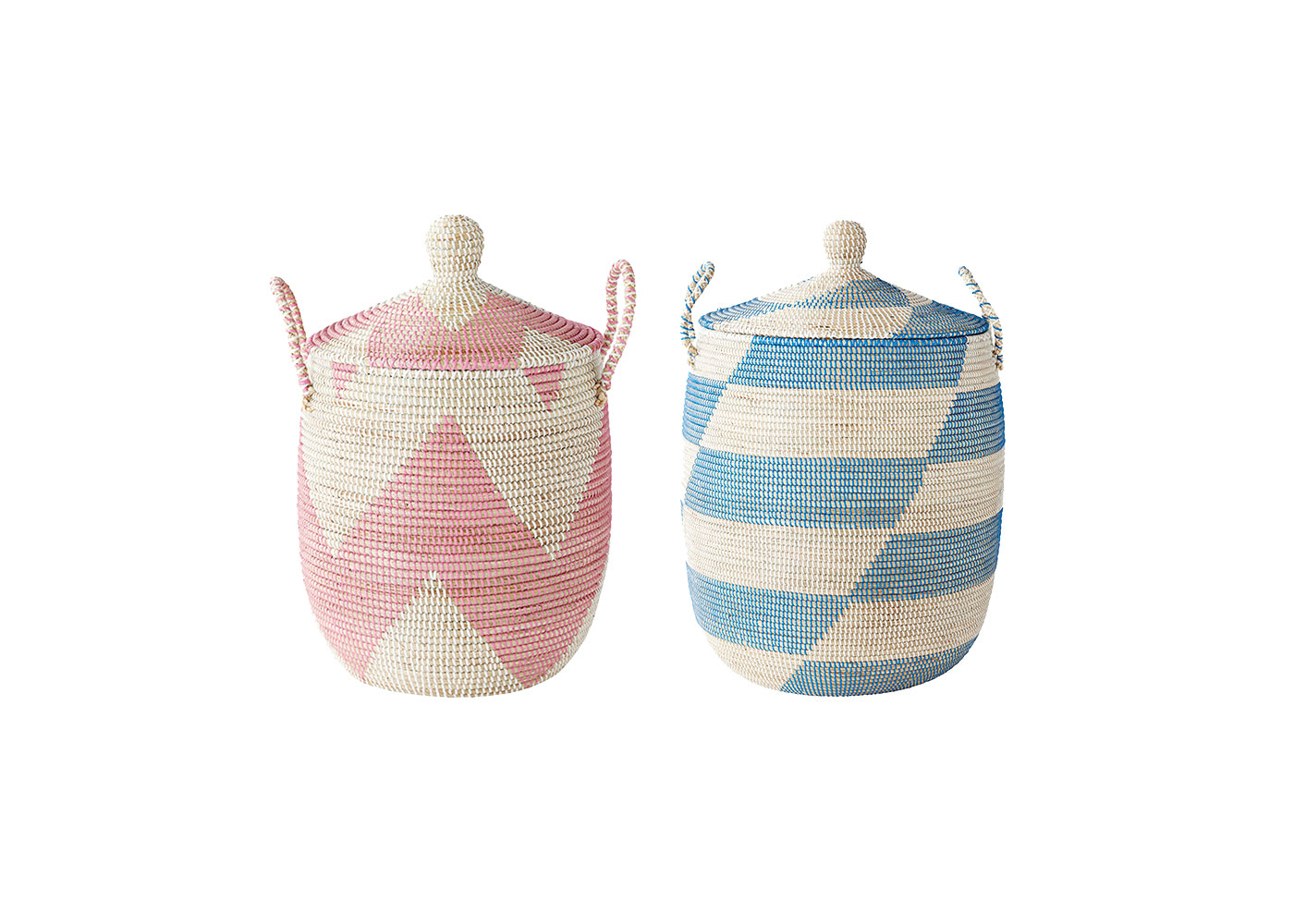 Pink and Blue Baskets